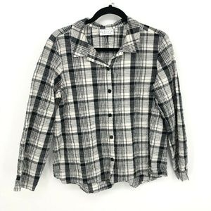 Habitat Clothes To Live In Flannel Button Up Shirt